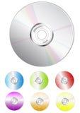 批量CD的颜色 库存例证