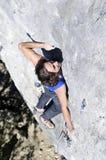 寻找举行的登山人 图库摄影