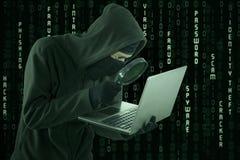 寻找信息的间谍软件 库存照片