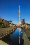 634找出米天空sumida东京塔结构树电视病区 库存照片