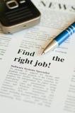 找到工作正确 免版税库存照片