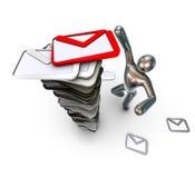 找到重要邮件人 免版税库存照片