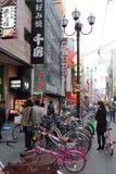寻找地方对公园(大阪-日本) 免版税库存照片