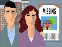 寻找家的家庭 免版税图库摄影