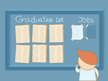 寻找工作的毕业的人 免版税库存照片