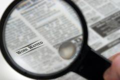 寻找工作 免版税库存图片