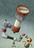 寻找成功的商人 向量例证