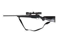 寻找查出的步枪 免版税库存图片