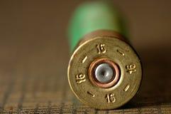 寻找猎枪的16个口径弹药筒 库存照片