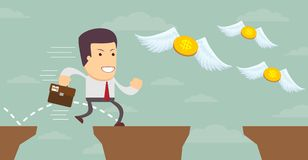 寻找金钱的人 设计例证股票您使用的向量 向量例证
