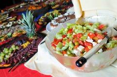 承办宴席新鲜和鲜美食物 库存照片