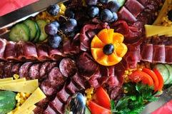 承办宴席新鲜和teasty食物 图库摄影
