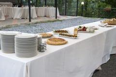 承办的自助餐Tercesi城堡 库存照片