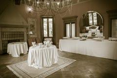 承办的自助餐Tercesi城堡 图库摄影