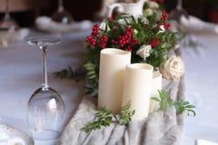 承办酒席婚礼事件板材服务 免版税库存图片
