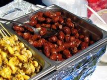 承办酒席泰国节日的食物 免版税库存图片