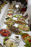 承办酒席烹调食物餐馆 免版税库存照片