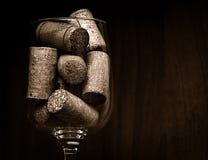 承办酒席,党概念:酒杯的特写镜头图象与黄柏的在黑暗的木背景 选择聚焦 库存图片