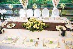 承办酒席宴会桌用另外食物 免版税库存照片
