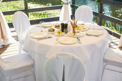 承办酒席宴会桌用另外食物 库存照片