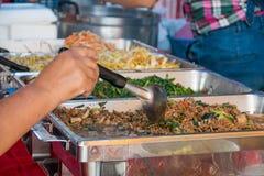 承办宴席的食物免费,泰国食物 图库摄影