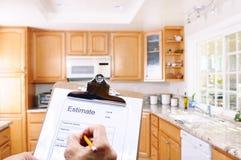 承包商文字估计 免版税库存照片