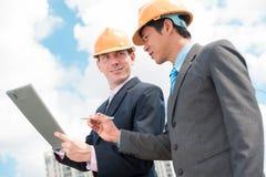 承包商和投资者 库存图片