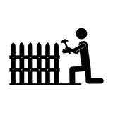 承包商或得心应手的人象图象 皇族释放例证