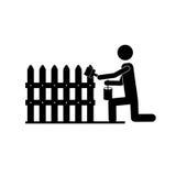 承包商或得心应手的人象图象 库存例证