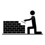 承包商或得心应手的人象图象 向量例证