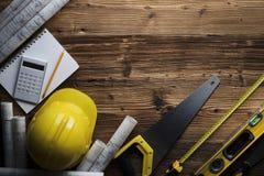 承包商概念背景 印刷术的地方 库存照片