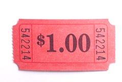 承认一张票 免版税库存照片