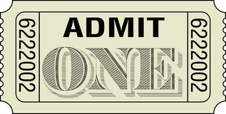 承认一张票 库存图片