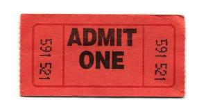 承认一张票 库存照片