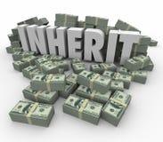 继承词金钱现金堆富有的储款将的堆财富 向量例证