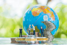 承诺、协议、投资和合作概念 免版税库存图片