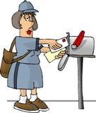 承运人女性邮件 库存图片