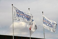 承购由美国公司Diebold的Wincor AG Nixdorf 免版税库存照片