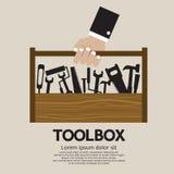 技工工具箱。 库存照片