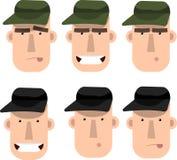 技工或猎人的面孔 库存照片