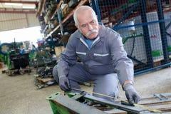 技工测量机械设备 库存照片