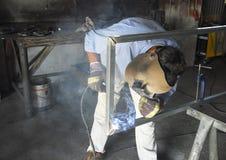 技工焊工 库存图片