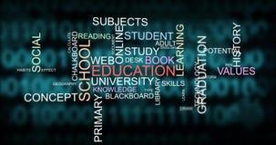 技巧发展和学会词印刷术的学校教育 皇族释放例证