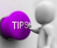 技巧被按的展示提示教导和忠告 免版税库存照片