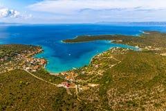 亚得里亚海的风景 库存照片