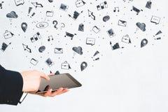 技术、成功和营销概念 库存图片