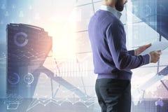 技术、通信和逻辑分析方法概念 免版税库存照片