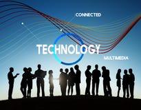 技术云彩网络份额多媒体概念 免版税库存照片
