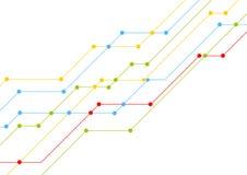 技术五颜六色的电路板排行芯片背景 免版税图库摄影