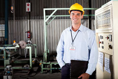 技术人员在工厂 免版税库存图片